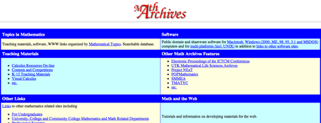 Math Archives