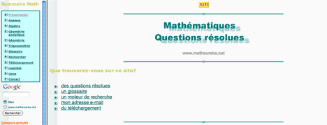 Maths questions resolues
